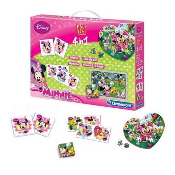 Детска игра - 4 в 1, Climentoni - Детски играчки - Пъзели - Minnie Mouse