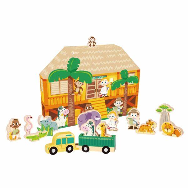 Детска игра с диви животни - Детски играчки - Дървени играчки