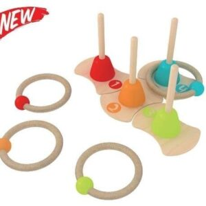 Детска игра с рингове за нанизване - Детски играчки - Бебешки играчки - Дървени играчки