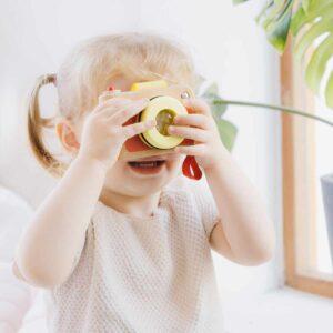 Детска играчка - фотоапарат - Детски играчки - Дървени играчки