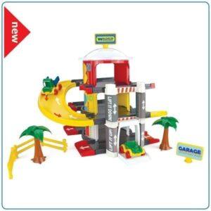 Детска играчка - Гараж на три нива с асансьор - Детски играчки - Детски гаражи и писти