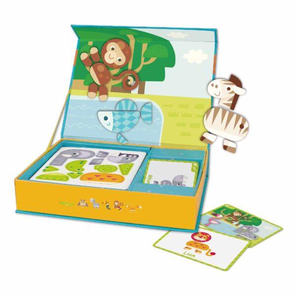 Детска играчка за пътуване с магнитни фигури - горски животни - Детски играчки - Дървени играчки