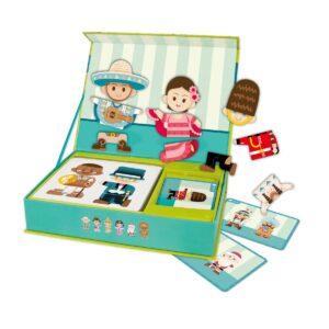Детска играчка за пътуване с магнитни фигури - Хората по света - Детски играчки - Дървени играчки