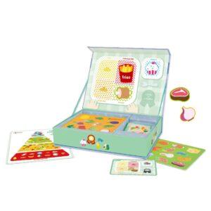 Детска играчка за пътуване с магнитни фигури - Хранителната пирамида - Детски играчки - Дървени играчки