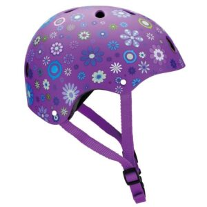 Детска каска за колело и тротинетка, 51-54 см - Лилава - Играчки за навън - Протектори - каски, налакътници, наколенки