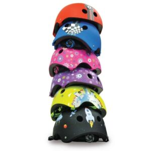 Детска каска за колело и тротинетка, Различни принтове - Играчки за навън - Протектори - каски, налакътници, наколенки