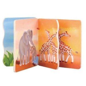 Детска книжка с животни - Детски играчки - Бебешки играчки - Дървени играчки