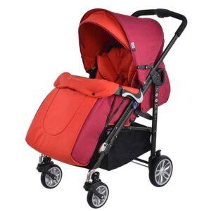 Детска количка, комбинирана Zooper Waltz Flaming Plaid, червена - Бебешки колички - Комбинирани бебешки колички 2 в 1