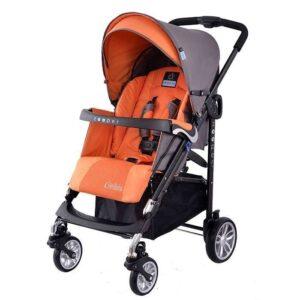Детска количка, комбинирана Zooper Waltz Honey Citrus, сиво и оранжево - Бебешки колички - Комбинирани бебешки колички 2 в 1
