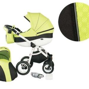 Детска комбинирана количка 2 в 1, модел Neo Style, Baby Merc зелено и черно - Бебешки колички - Комбинирани бебешки колички 2 в 1