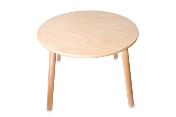 Детска кръгла дървена маса - Детски играчки - Къщи за игра, маси и столове - За детето - Аксесоари и текстил за детска стая - Дървени играчки
