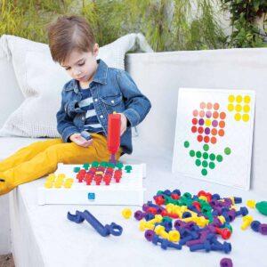 Детска мозайка с винтоверт - Детски играчки - STEM Играчки