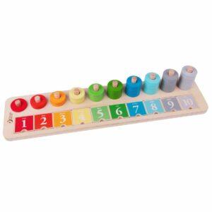 Детска образователна дъска с числа - Детски играчки - Дървени играчки