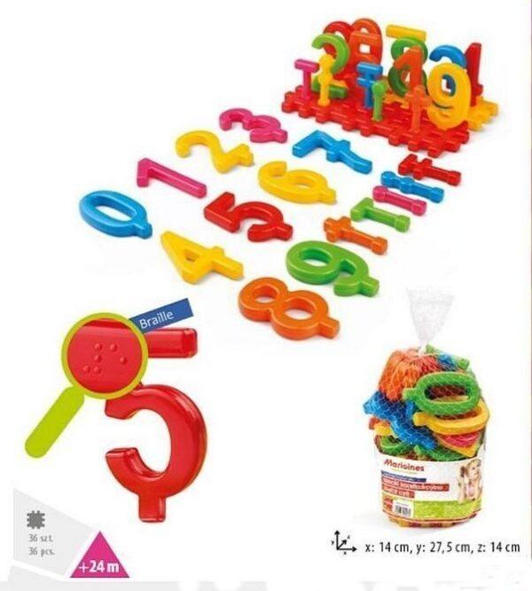 Детска образователна игра - Светът на числата 36 елемента - Детски играчки - Образователни играчки