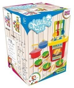 Детска печка с аксесоари - 31 елемента - Детски играчки - Кухни за игра - комплекти и консумативи
