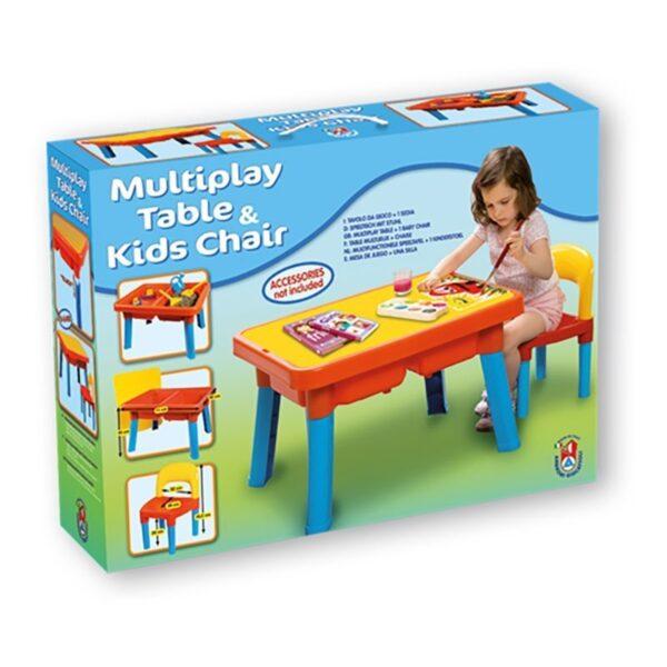 Детска пластмасова маса със стол, Unico - Детски играчки - Други занимателни и спортни играчки