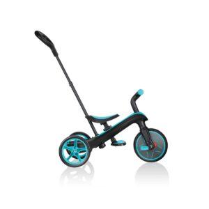 Детска триколка 4 в 1, Globber Trike Explorer синьо-зелена - Играчки за навън - За бебето - Бебешки колички - Балансиращи колела - Детски триколки и четириколки