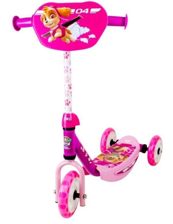 Детска тротинетка с 3 гуми розова - Пес патрул - Тротинетки - Играчки за навън - Тротинетки с 3 колела за деца - PAW Patrol