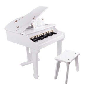 Детски акустичен роял - бял - Детски играчки - Музикални инструменти - Дървени играчки