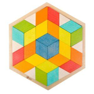 Детски дървен 3D Пъзел - Детски играчки - Пъзели - Дървени играчки