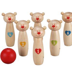 Детски дървен боулинг - Детски играчки - Други занимателни и спортни играчки - Дървени играчки
