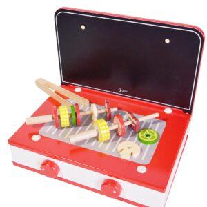 Детски дървен готварски комплект - Детски играчки - Кухни за игра - комплекти и консумативи - Дървени играчки