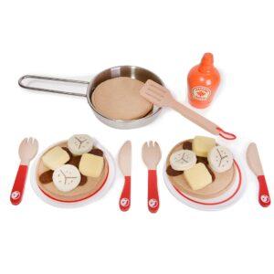 Детски дървен готварски комплект - палачинки - Детски играчки - Кухни за игра - комплекти и консумативи - Дървени играчки