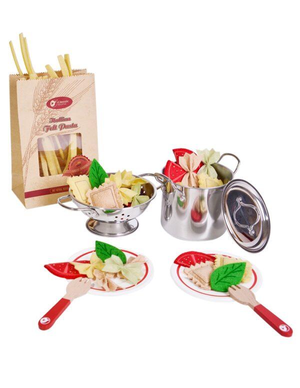 Детски дървен готварски комплект - паста - Детски играчки - Кухни за игра - комплекти и консумативи - Дървени играчки