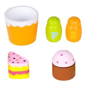 Детски дървен комплект закуска - зелен - Детски играчки - Кухни за игра - комплекти и консумативи - Дървени играчки
