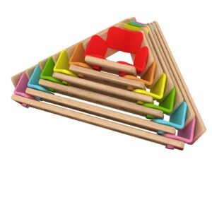 Детски дървен конструктор за игра - Дъга - Детски играчки - Конструктори - Дървени играчки