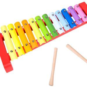 Детски дървен ксилофон - Детски играчки - Музикални инструменти - Дървени играчки