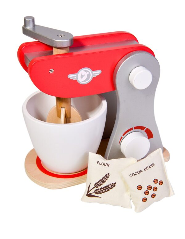 Детски дървен миксер - червен - Детски играчки - Кухни за игра - комплекти и консумативи - Дървени играчки