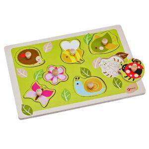 Детски дървен пъзел - градина - Детски играчки - Пъзели - Дървени играчки - Пъзели