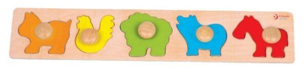 Детски дървен пъзел с животни - Детски играчки - Пъзели - Дървени играчки - Пъзели