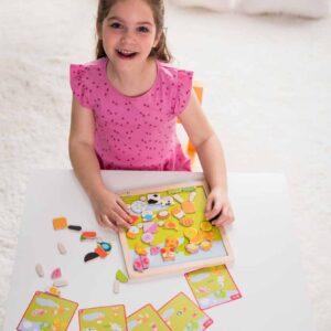 Детски дървен пъзел с магнитни фигури - Ферма - Детски играчки - Бебешки играчки - Пъзели - Дървени играчки