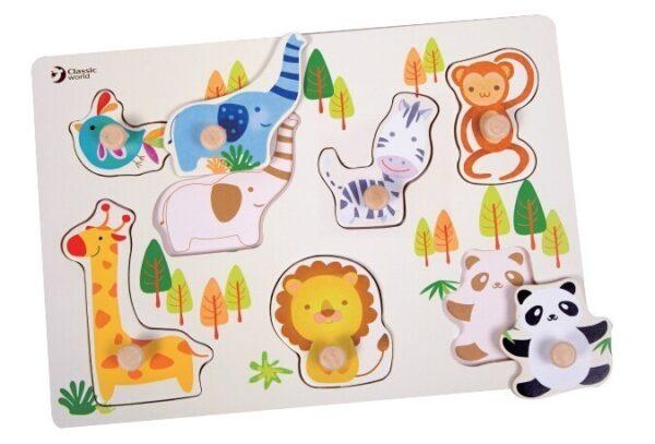 Детски дървен пъзел - зоологическа градина - Детски играчки - Пъзели - Дървени играчки - Пъзели
