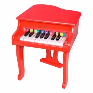Детски дървен роял - червен - Детски играчки - Музикални инструменти - Дървени играчки