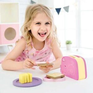 Детски дървен тостер за игра - Детски играчки - Кухни за игра - комплекти и консумативи - Дървени играчки