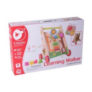 Детски дървен Уокър - проходилка с игри за бебета - Играчки за навън - Проходилки - Дървени играчки