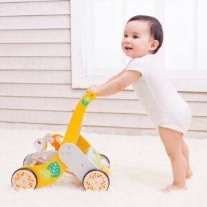 Детски дървен уолкър с горски животни - Играчки за навън - Проходилки - Дървени играчки