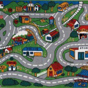 """Детски килим за игра """"Полицейски участък"""" с 6 колички - Детски играчки - Детски килими за игра"""