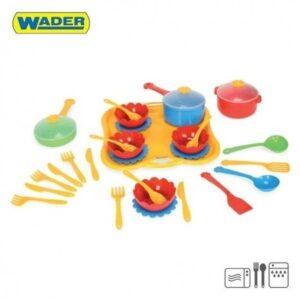 Детски комплект прибори за вечеря - 31 елемента - Детски играчки - Кухни за игра - комплекти и консумативи