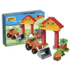 Детски конструктор - мини ферма, Unico - Детски играчки - Конструктори