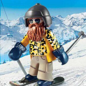 Детски конструктор Playmobil, Скиор със ски - Детски играчки - Конструктори