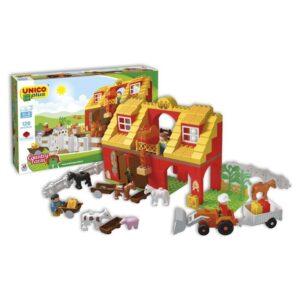 Детски конструктор - селскостопанска ферма, Unico - Детски играчки - Конструктори