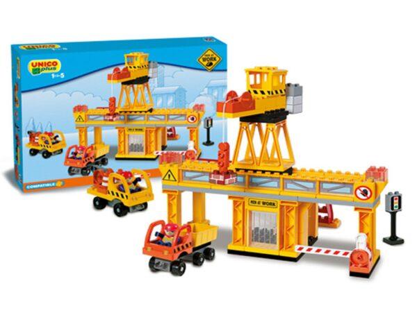 Детски конструктор - строителна площадка, Unico - Детски играчки - Конструктори