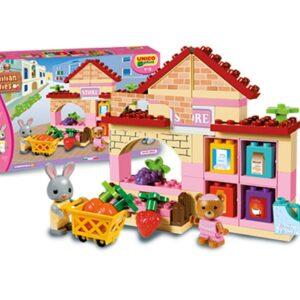 Детски конструктор за момиче - магазин, Unico - Детски играчки - Конструктори