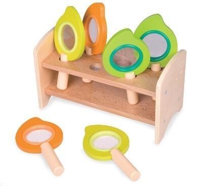 Детски лупи за игра - комплект с поставка - Детски играчки - Образователни играчки - Дървени играчки