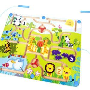 Детски магнитен лабиринт - Животни - Детски играчки - Образователни играчки - Дървени играчки