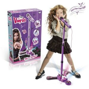 Детски микрофон със стойка за караоке - Детски играчки - Музикални инструменти - Chica vampiro